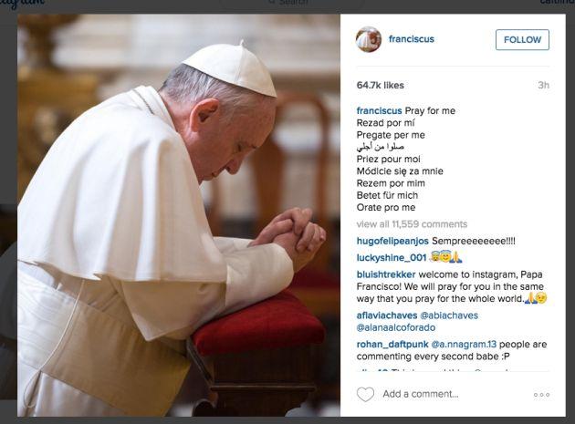 Paus Fransiskus pada Hari Komosos 2018.jpg